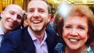 James Bickerton selfie with Cilla
