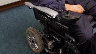 Professor Mike Oliver's wheelchair