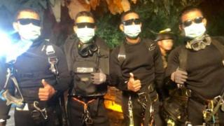 Thailand boys trapped in caves