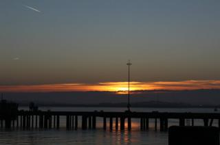 Ha'Penny Pier at sunset