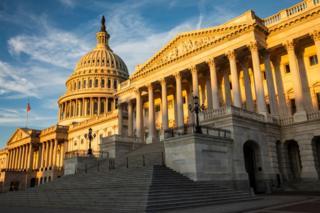 The rising sun illuminates the United States Capitol Building on September 19, 2019 in Washington, DC