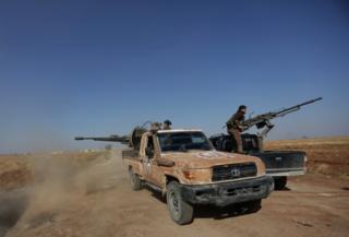 Боевики ведут огонь в Сирии