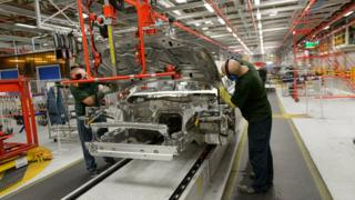 Jaguar Land Rover production line workers