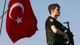 Turkish police officer