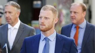 England cricketer Ben Stokes arrives at Bristol Crown Court