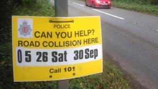 Collision scene sign