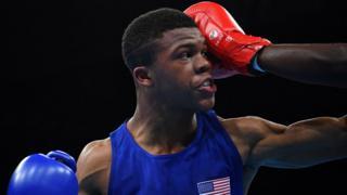 Boxeadores, durante las Olimpiadas.
