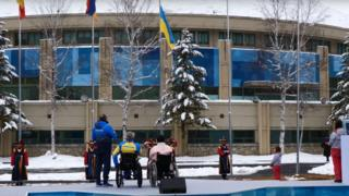 Підняття прапора України на ХІІ зимових Паралімпійських іграх