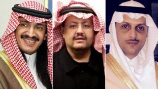 Príncipes Turki bin Bandar, Sultan bin Turki y Saud bin Saif al-Nasr