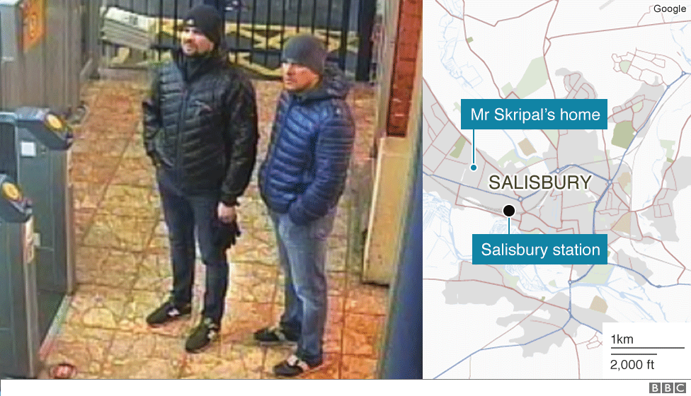 Russian suspects at Salisbury station
