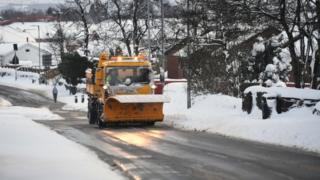 Snow plough in Balloch