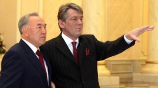 Ющенко и Назарбаев