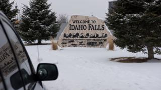 in_pictures Image shows a sign that welcomes visitors to Idaho Falls