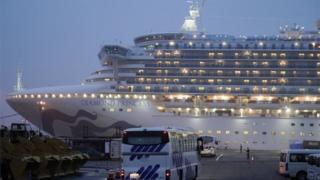 The Diamond Princess cruise ship - quarantined in Japan due to coronavirus, 16 February 2020
