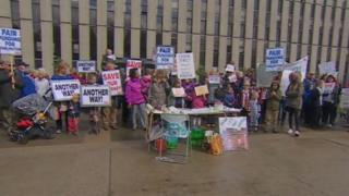 Protest over Darlington cuts