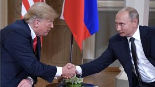 Trump e Putin em encontro nesta segunda-feira em Helsinque