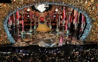 The Oscars ceremony stage