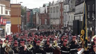 Aldershot parade