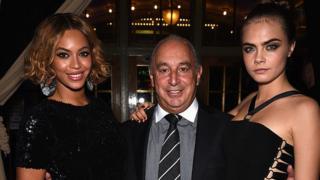 Beyonce Knowles, Sir Philip Green and Cara Delevingne