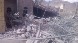 Aftermath of air strike on Medecins Sans Frontieres (MSF) hospital in Saada province, Yemen (27 October 2015)