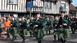 The St Patrick's Day parade in 2019
