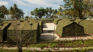 Tents on Manus Island detention centre