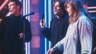Mark Berry and Shaun Ryder of the Happy Mondays and Kirsty MacColl