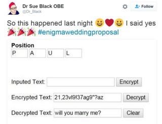 Wedding proposal tweet