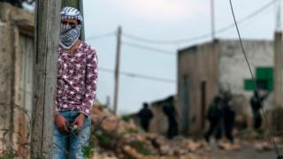 Палестинец в деревне под Наблусом