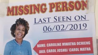 Photo of missing person poster