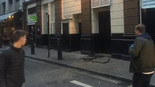 Exploding pavement debris