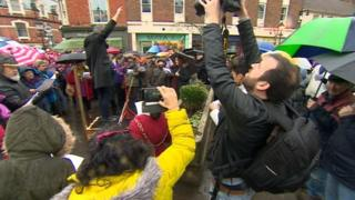 Bank protest in Glastonbury