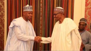 Aworan Buhari ati áwọn aṣáájú ilé