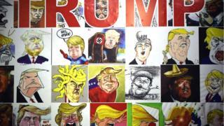 Umukuru w'igihugu wa Amerika, Donald Trump, ari mu bategetsi bashushanywa cyane kw'isi mu buryo busekeje cyangwa busebeje