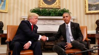 オバマ大統領とトランプ次期大統領は選挙から2日後にホワイトハウスで会談した(今月10日)
