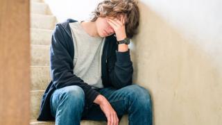 Bullied teenage boy