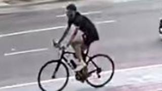 CCTV of wanted cyclist