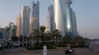 Katar'ın başkenti Doha'dan bir fotoğraf