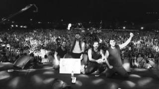 Mashrou' Leila at concert in Cairo on 22 September 2017
