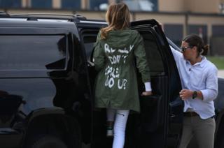 Дружина президента США Дональда Трампа Меланія