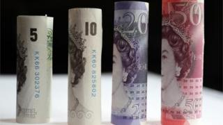 £5, £10, £20 and £50 notes