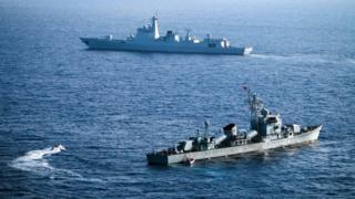 Trung Quốc trong một cuộc tập trận ở khu vực Hoàng Sa, trên Biển Đông.
