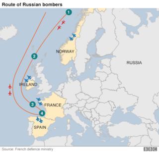 Phi cơ ném bom Nga bay sát không phận các nước Nato trong tháng 10