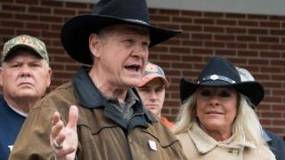 Roy Moore at polling station
