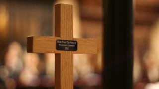 Cross in Wakefield Cathedral