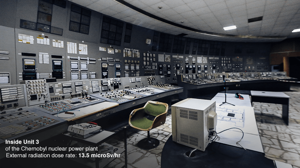 Inside Unit 3 of the Chernobyl nuclear power station