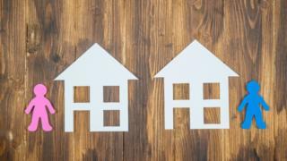 Paper cut houses
