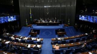 Le Sénat brésilien vote pour un procès en destitution de Dilma Rousseff, Brasilia, Brésil, 9 août 2016