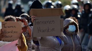 Protesta en Honduras contra el confinamiento