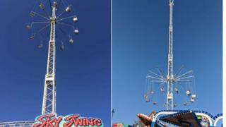 Passengers stranded on Sky Swing ride at Boston's May fair